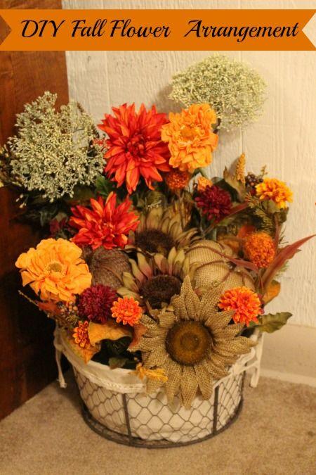 DIY Fall Flower Arrangement  {Day 8}