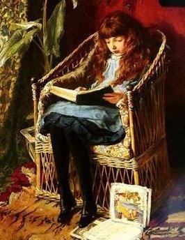 Little Girl Reading FairyTales