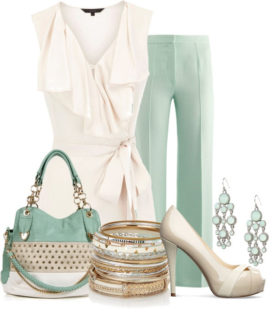 """Spring Neutrals"" by ljjenness on Polyvore"