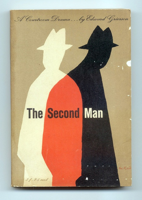 The Second Man by Edward Grierson. Cover by Paul Rand, 1956.