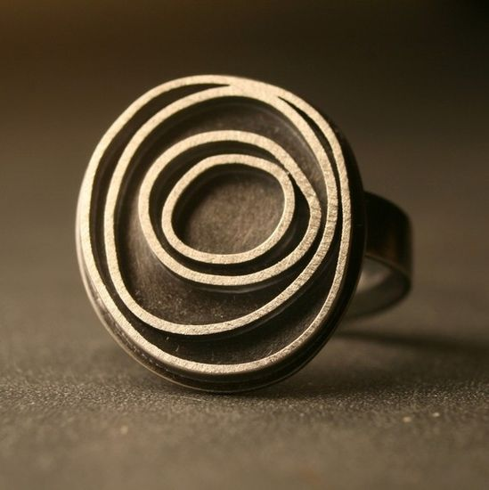 Silver oxidized ring!