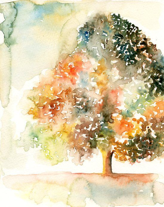 Romantic tree Print from my original watercolor painting by Ireart, $18.00