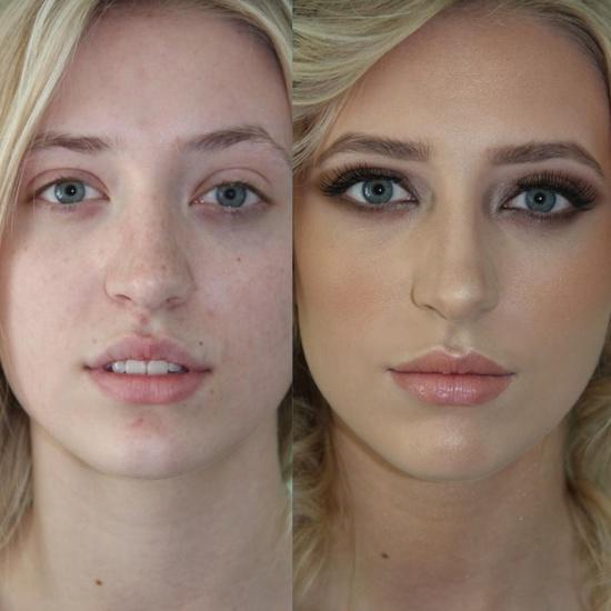 Model transformation: Airbrush + gold eyes makeup tutorial