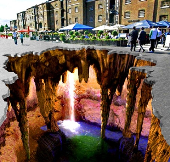 awesome. 3d Pavement art.