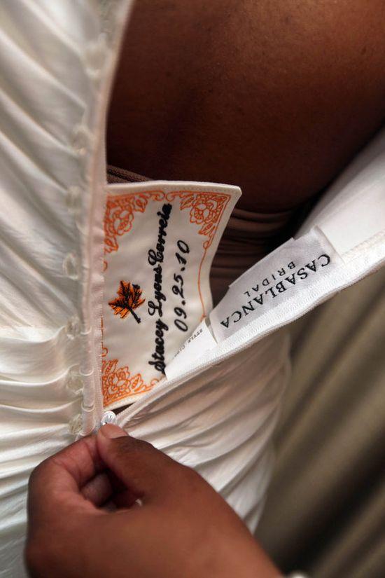 custom wedding dress label