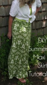 DIY Summer Maxi Skirt Tutorial: This lady is THE refashion expert, holy cow.