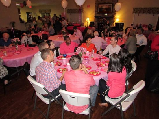 Great food, great friends, GREAT cause, what more could you ask for? #bcam #pinktober