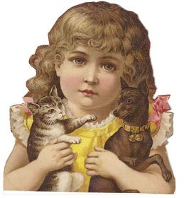 The Vintage Moth..: Victorian Girl with Her Pets