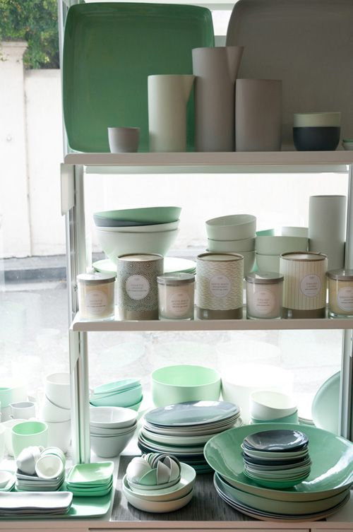 #bowls, #plates, #mint, #green
