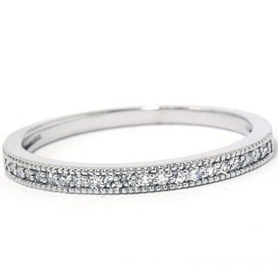.25CT Diamond Wedding Ring 14K White Gold REVIEW