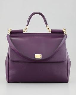 Deep purple.  DOLCE & GABBANA #handbags view more: www.buylouisvuitt... #CYBERMONDAY
