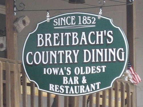 Breitbach's, Balltown, Iowa by iowaswede, via Flickr