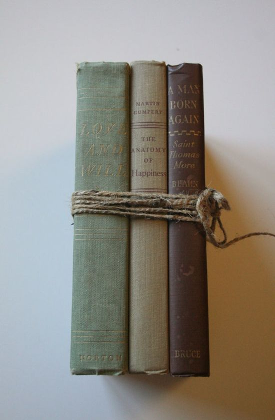 Like to decorate with old books