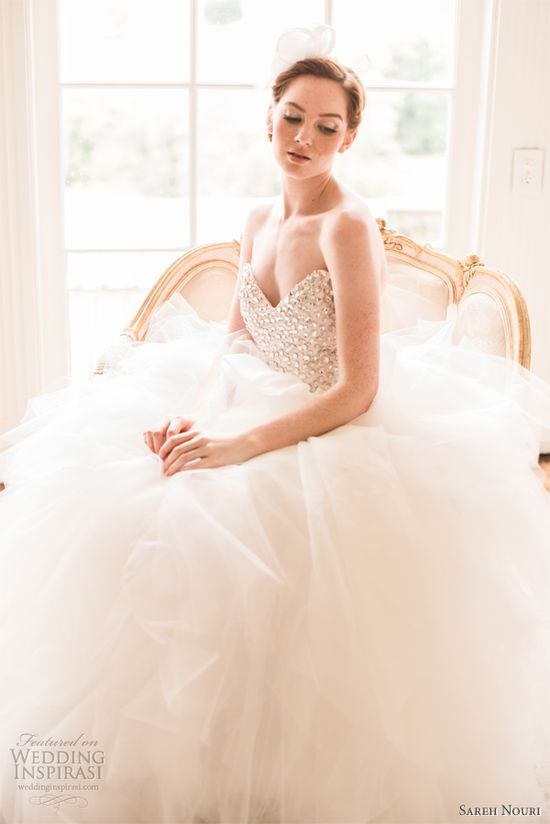 sareh nouri spring 2013 wedding dresses ressan tulle ballgown