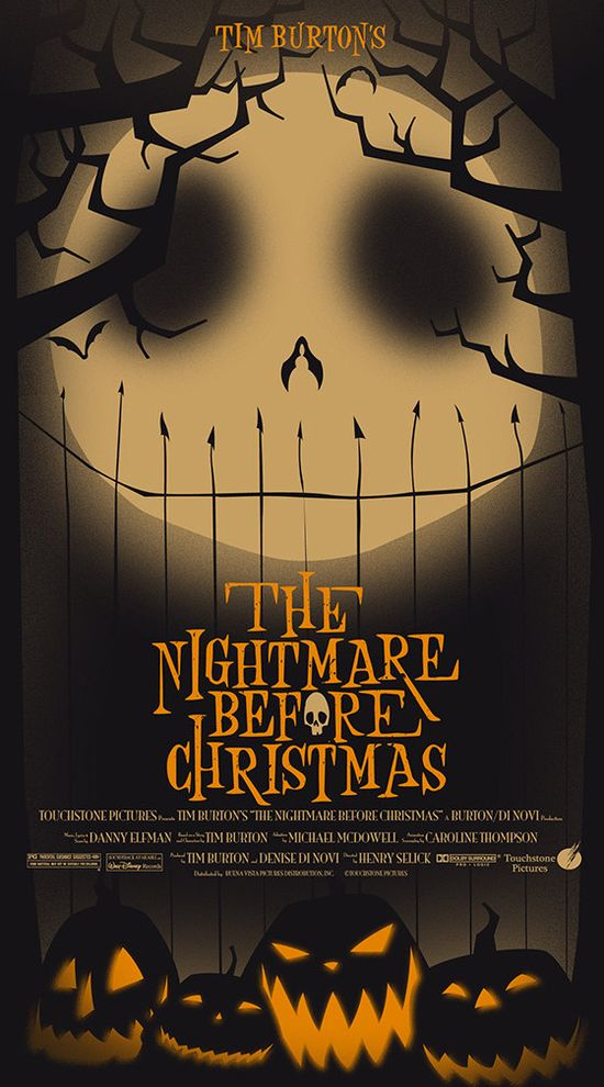 "Limited Run - Original Nightmare Before Christmas Movie Poster 20"" x 36"". 55.00, by trythemonkey via Etsy."