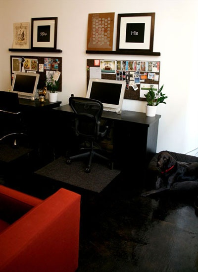 his and hers office space