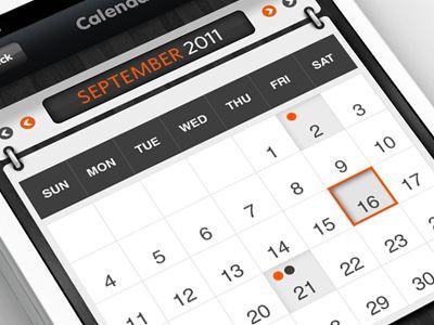 #Calendar  #ui