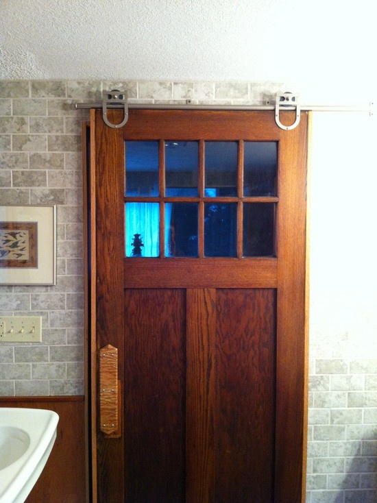 Laundry Room Design, Pictures, Remodel, Decor and Ideas - So love this rolling door