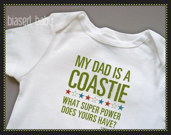 Coast Guard Dad - Funny Baby Gift. $16.00, via Etsy. - Super cute! - MilitaryAvenue.com