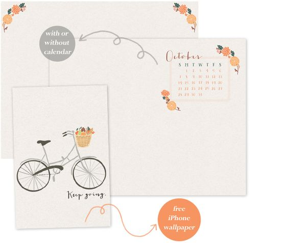 Oh the lovely things: Free October Desktop + Iphone Wallpapers