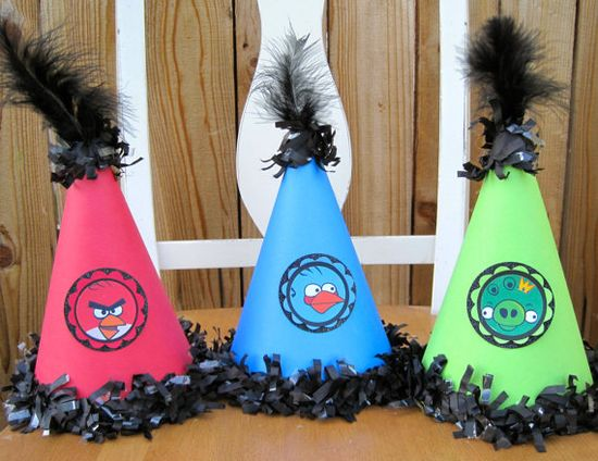 angry birds party hat