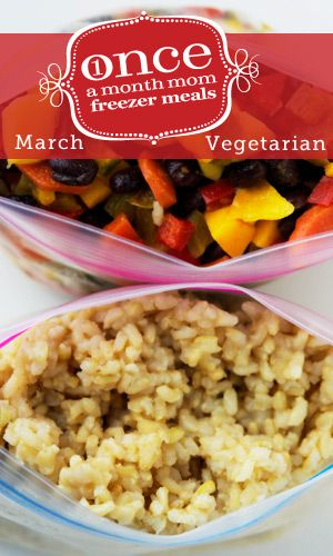 Vegetarian March 2013 Freezer Menu
