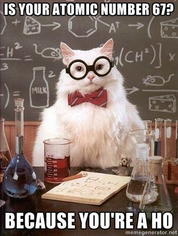 Must be my inner nerd because I DO find Chemistry Cat amewsing (see what I did t