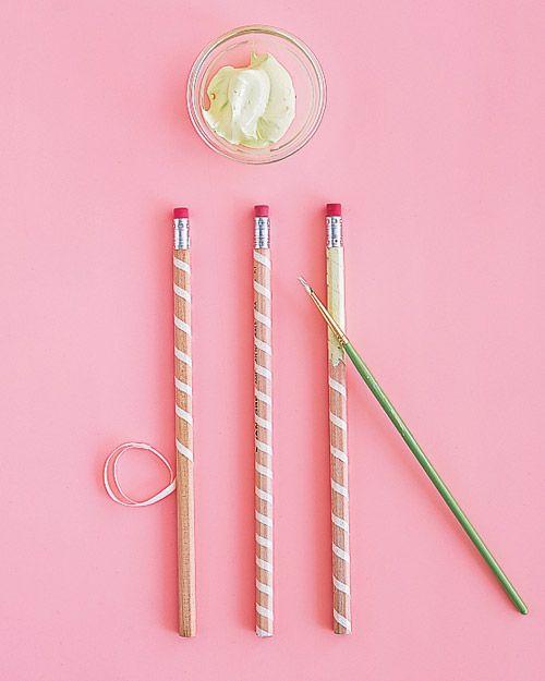 striped pencils