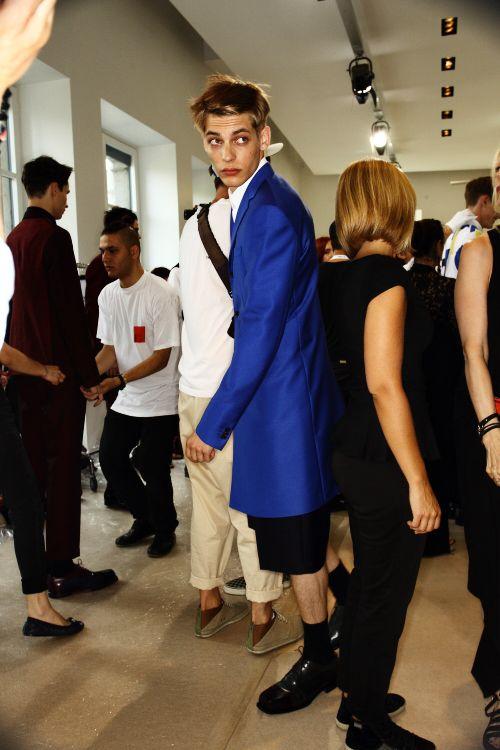 Jil Sander SS13 Men Fashion Show Milan Backstage