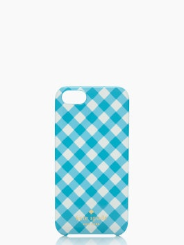 Kate Spade gingham iPhone case.