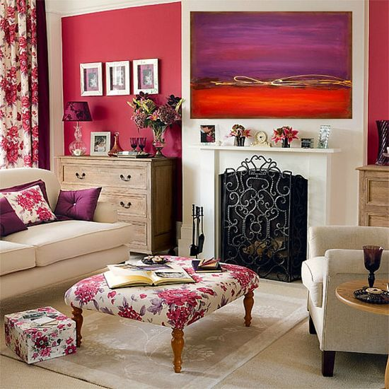 Abstract Acrylic Painting Large Red and Purple by OraBirenbaumArt, $275.00