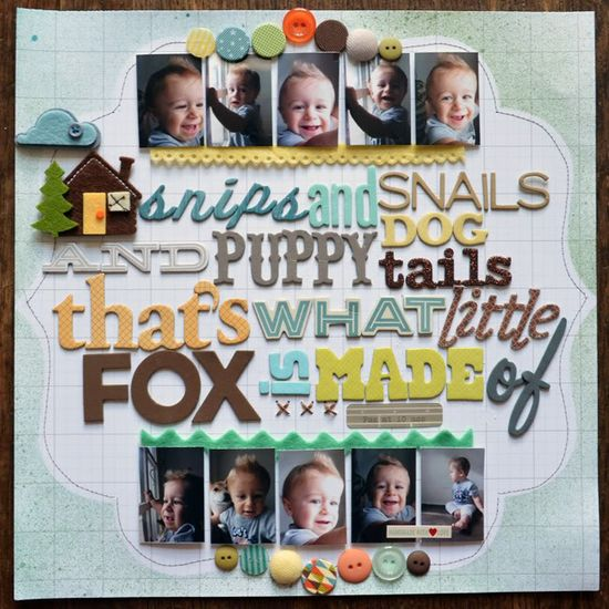 #papercraft #scrapbook #layout all about #boys