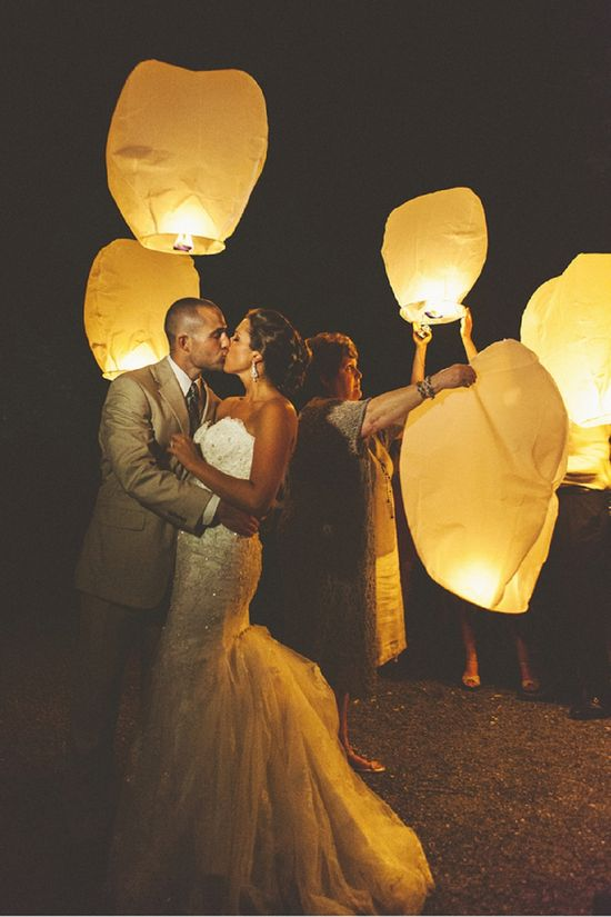 Release lanterns after the reception! Could be the favor and everyone makes a wi