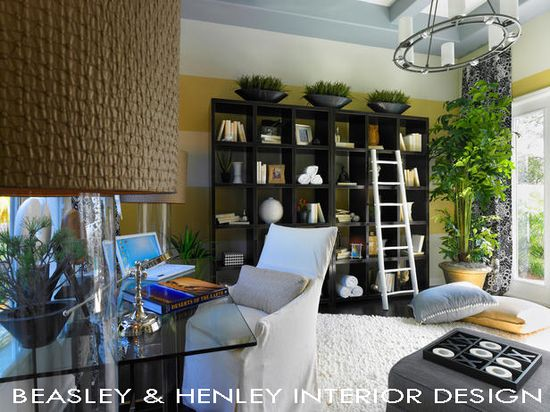 Family room in an apartment designed by Beasley & Henley