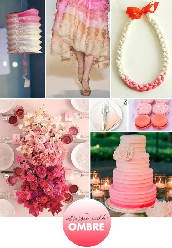 pink ombre details