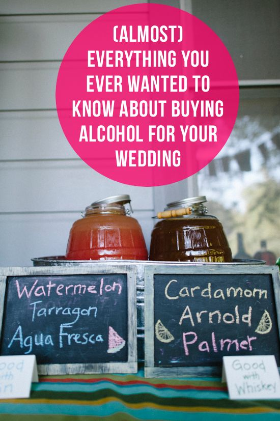 Everything You Need To Know About Buying Alcohol For A Wedding