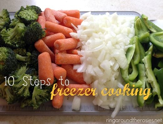10 steps to freezer cooking - this looks good with lots of recipes!