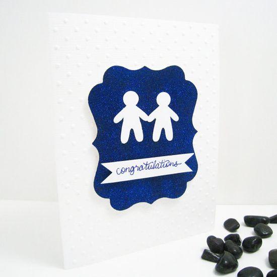 Gay Wedding Card for Men via Etsy