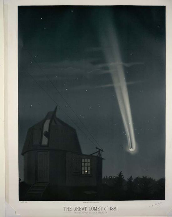 The great comet of 1881. Observed on the night of June 25-26 at 1h. 30m. A.M. (1881-1882) from the New York Public Library Collection
