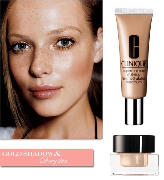 Gold Shadow & Dewy Skin