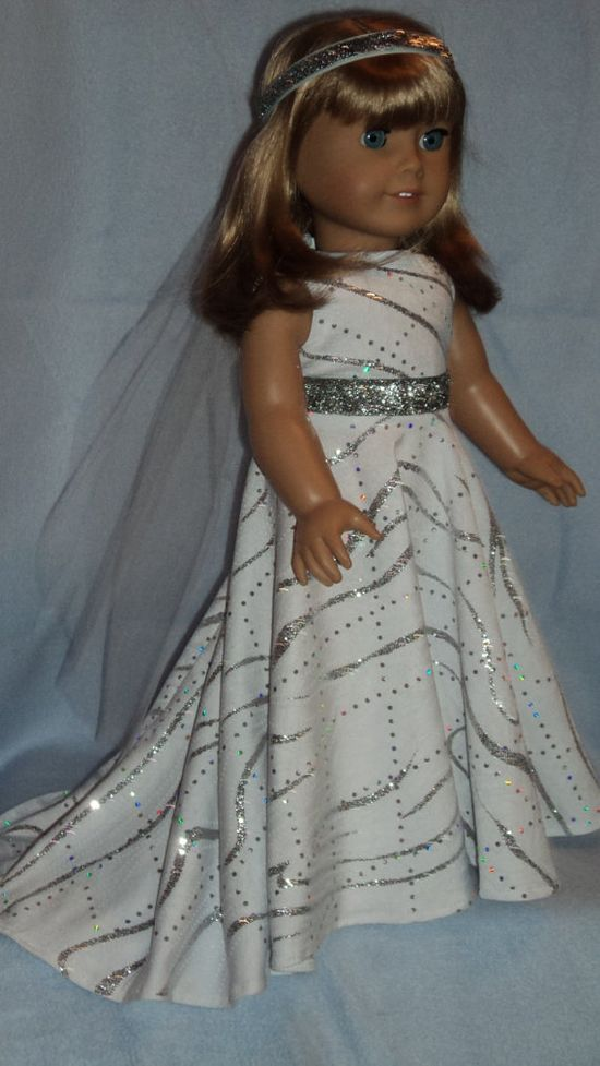 Doll Clothes for American Girl  Wedding Gown and by susiestitchit, $19.00