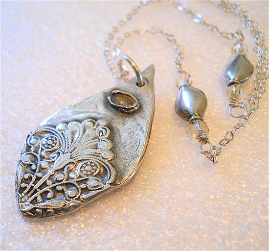 Silver Victorian Teardrop Lotus Lace Topaz by YourDailyJewels