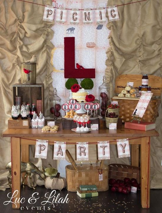 Little Red Riding Hood Sorybook Picnic with Such Darling Ideas via Kara's Party Ideas