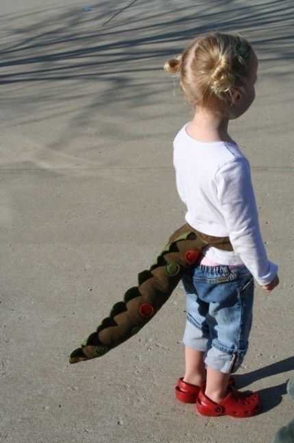 no kid should not be without a dinosaur tail.