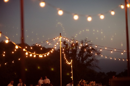 reception lighting for outside the tent