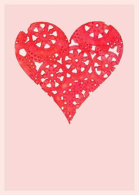 doily heart_samantha hahn by samlovesherdog, via Flickr
