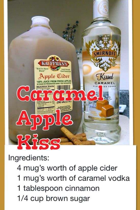 Holiday drink Caramel Apple Vodka Kiss, This is it, I have been looking for this one. :)