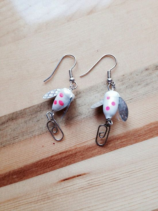 Handmade Earrings  Fishing Lure  by WinterBlueProduction on Etsy