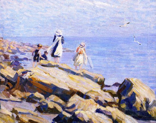 Children on the Rocks (Helen Galloway McNicoll - )