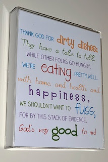 Free printable....nice for a new kitchen. My mom had this saying in our kitchen growing up, Love it!